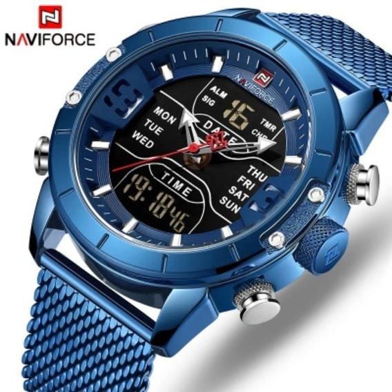 Relógio De Pulso Masculino Naviforce Original Importado A Prova D