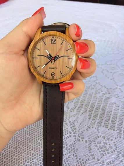 Relógio Masculino Quartz Marrom