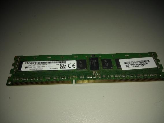 Memória Micron 8gb Pc3-14900r Ddr3-1866 Ecc (para Servidor)