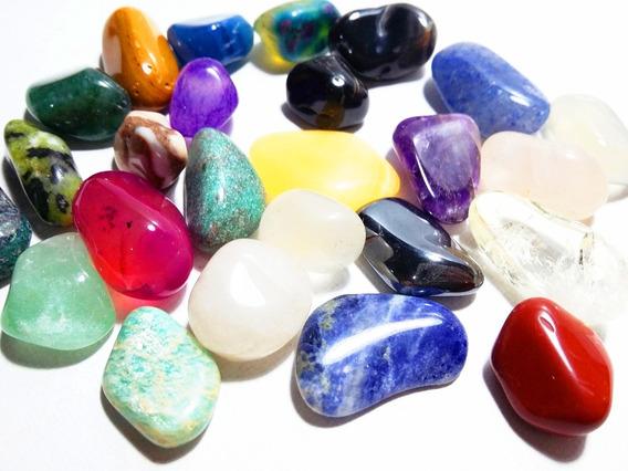 Coleção 25 Pedras Preciosas Brasileiras Polidas/roladas
