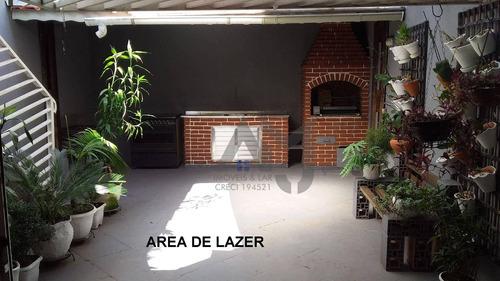 Imagem 1 de 8 de Sobrado Com 3 Dormitórios À Venda, 216 M² Por R$ 851.063,97 - Parque Boturussu - São Paulo/sp - So0215