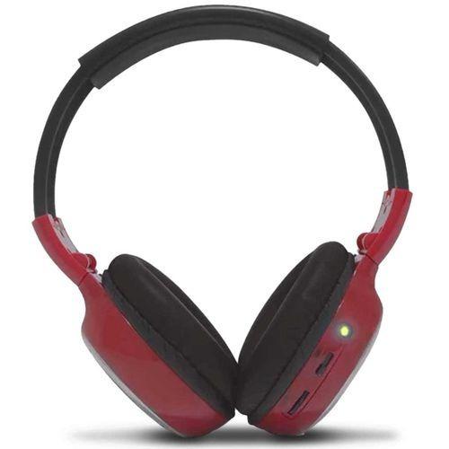 Fone De Ouvido Headphone Infravermelho P2 Vermelho
