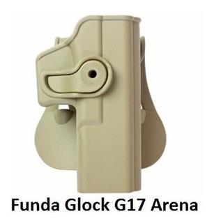 Funda Pistola Holster Glock 17 18 19 25 Arena Tan Imi Defen