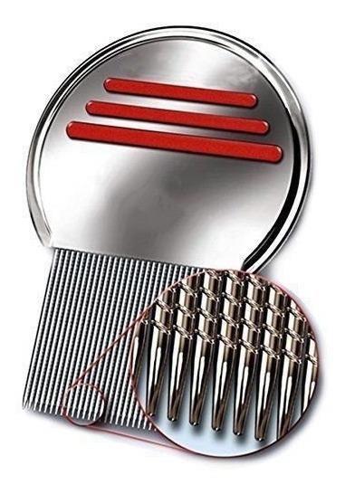 Nueva Piojos Metal Peine Envío De Acero Inoxidable Dientes L