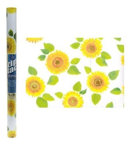 Zip Tac Sunflowers Contact Paper 9 Pies X 18 Pulgadas
