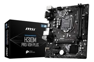 Motherboard Intel Msi H310m Pro-vh Plus Lga 1151 8va Gen Gbe