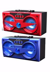 Caixa De Som Bluetooth 10watts Ms-180bt - Cor Azul