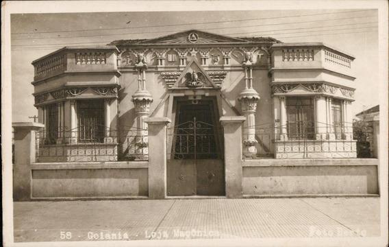 Cartão Postal Antigo Goiania Goiás Loja Maçônica 1954