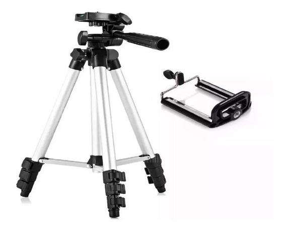 Tripé Câmera Universal Celular 1,50 Mt + Suporte 100% Nf