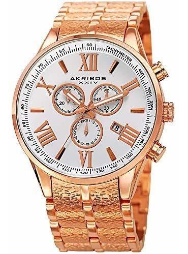 Akribos Ak960 - Reloj Cronógrafo Multifunción Con Taquímetro