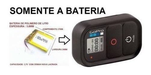 Bateria Gopro Hero Wi-fi Para Controle Remoto 3,7v 350mah