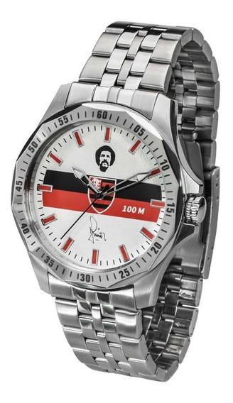 Relógio Flamengo Maestro Júnior Prata Un