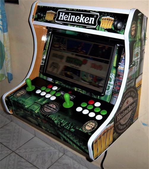 Fliperama Bartop 19 Arcade Nintendo Mario Ficheiro Moedeiro