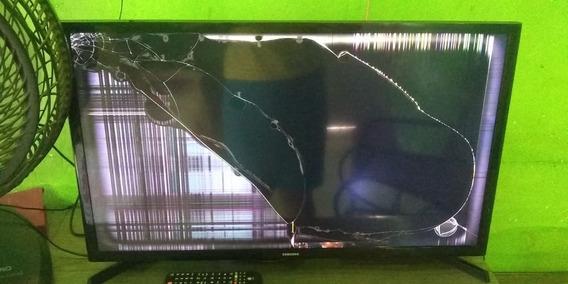 Tv Samsung Tela Plana Não É Smart Display Quebrado Tá Funcio