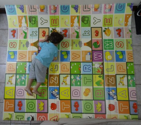 Tapete Atividades Infantil Criança Dobrável Bebe 2x1,80m