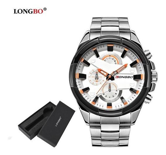 Relógio Masculino Longbo Importado Dourado Promoção Barato
