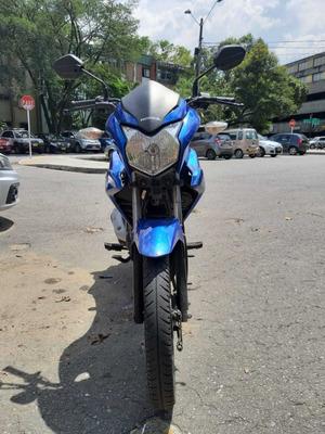 Moto Honda Cbf 110 Modelo 2016, Km 40.620 Azul