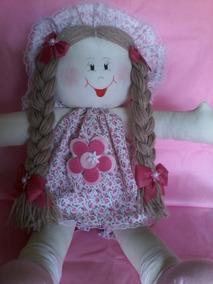 Boneca De Pano Artesanal Decoração Rosa
