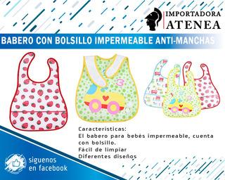Babero Con Bolsillo Impermeable Anti-manchas