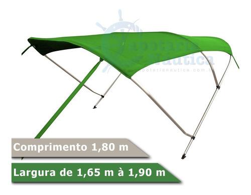 Imagem 1 de 2 de Capota Toldo Náutico 3 Arcos 1,80m P/ Lancha, Barcos E Botes