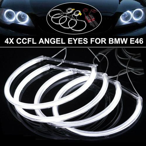 4pcs Cccfl Led Angel Eyes Lâmpada Kit Halo Anel Farol Do Car