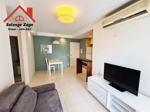 Lindo Apartamento No Brooklin Com 50m² E Com Uma Suite - 2098