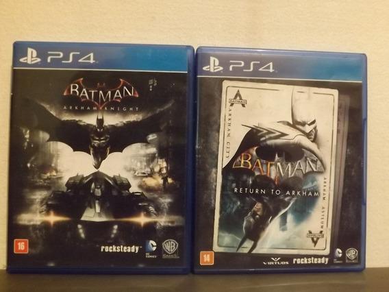 Ps4 Batman Arkham Trilogy - Triplo (3 Jogos) - Aceito Trocas...