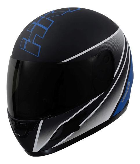 Casco para moto integral Vértigo HK7 azul mate talle L