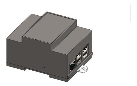 Gabinete Cabinet Case Plc Raspberry Pi Din43880 Pdmd-4524