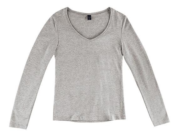 Blusa Feminina Básica Com Decote V Em Modelagem Slim Hering