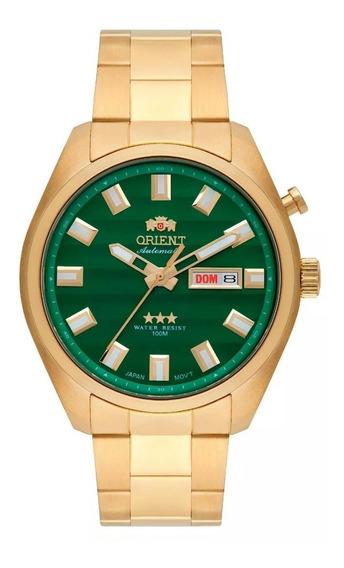 Relógio Orient Masculino Automático Verde Dour 469gp076 E1kx