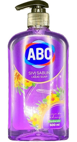 Imagen 1 de 3 de Jabón Líquido Abc Aroma Lavanda 500ml Con Dispensador