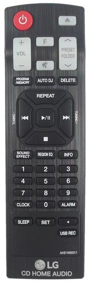 Controle Original P/ Som Lg Akb74955311 Mini System Cm4460 U