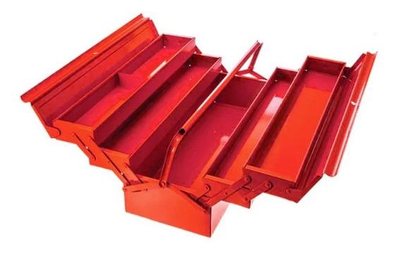 Caja Herramientas Articulada Metálica Roja
