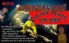 Oferta 1 Año Netflix 4 Pantallas Con El -50% Off