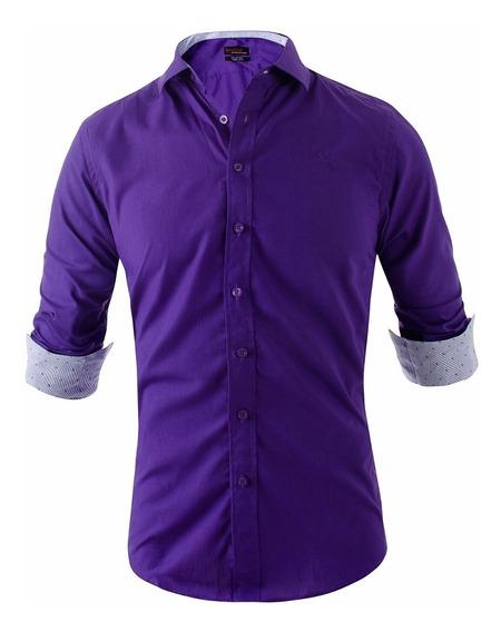 Camisa Entallada Z413 Slim Fit Hombre - Quality Import Usa