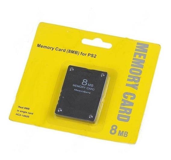 Memory Card 8mb Playstation 2 Ps2 Lacrado Cartão De Memoria