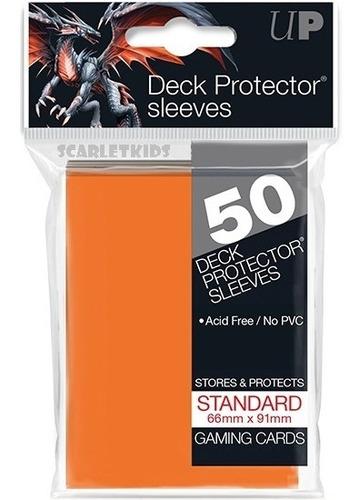 Imagen 1 de 6 de Protectores Ultra Pro X50 Unidades Naranja Scarletkids