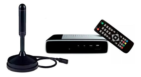 Kit Conversor Digital Full Hd Com Antena Interna Com Nf