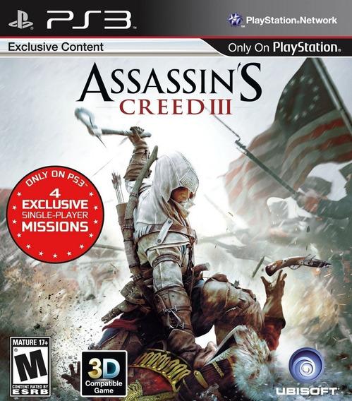 Assassins Creed 3 Ps3 Psn Mídia Digital Envio Imediato