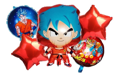 Globos Metalizados Dragon Ball X5