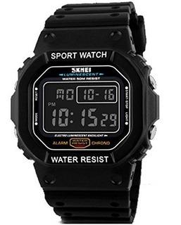 Reloj Hombre Skmei 1134 Retro Digital Luz Cronometro Alarma Sumergible 50mts Resistente Deportivo
