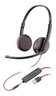 Headset Plantronics Estéreo C3225 Usb P/n 209747-101