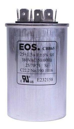 Capacitor Duplo Ar Condicionado Split 25+1,5uf 380v 9000 Btu ( Temos Vários Modelos - Consulte )