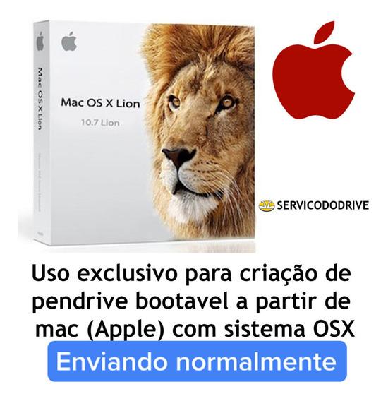 Mac Osx Lion 10.7 Sistema Apple - Crie Seu Pendrive