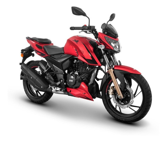 Motocicleta Tvs Rtr 200 Rojo