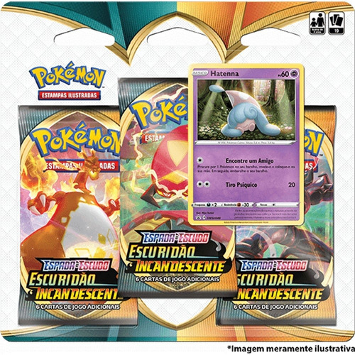 Card Game Pokémon Blister Escuridão Incandescente Hatenna