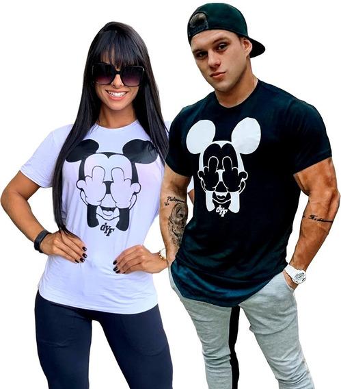 Promoção Duas Camisetas Unissex Barato Mickey Dyf Original