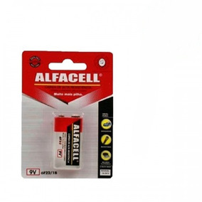 Bateria 9v Alfacell Alta Resistência De Carga