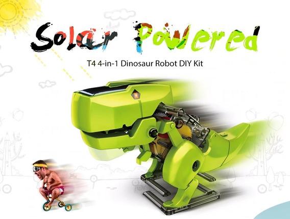 Brinquedo Robo Energia Solar 4 Em 1 Educacional Para Montar